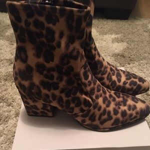 Marc Fisher 'Leave Heel' Boots Leopard
